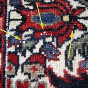 White Knots in Rugs